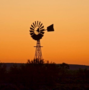 Windmill-sunset
